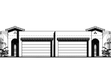 The Mia Duplex Front Elevation
