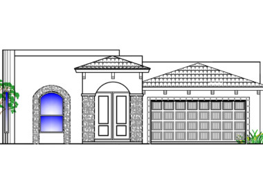 Bellaire Floor Plan Front Elevation