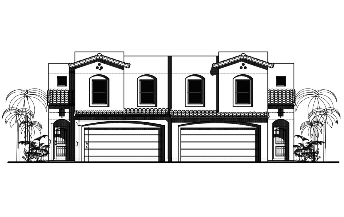 The Rio Duplex Front Elevation