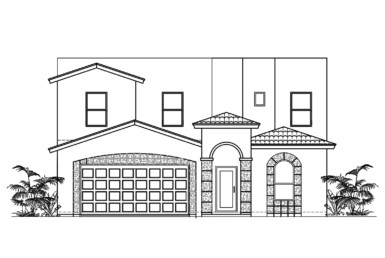 Sorrento Floor Plan Front Elevation